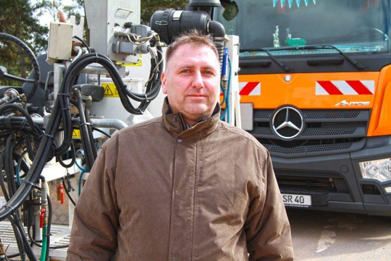 SRV-Mitarbeiter Gojko Kramer