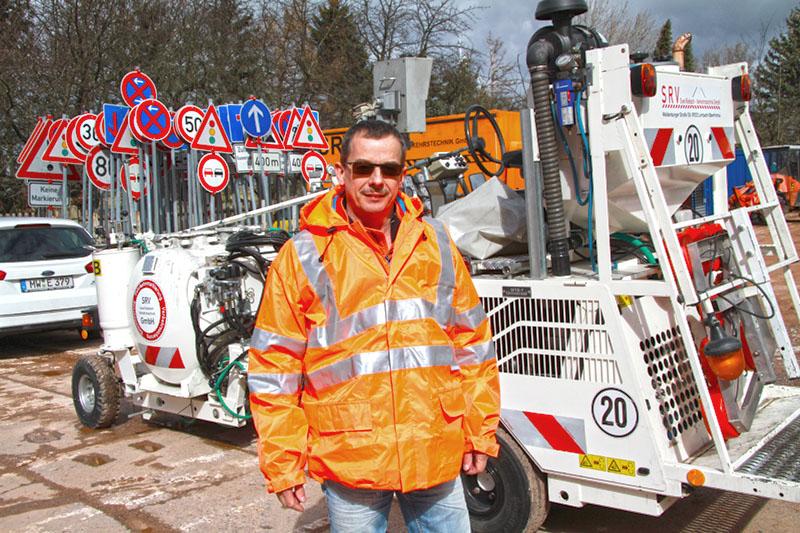 SRV-Mitarbeiter Steffen Neumann